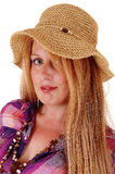Portrait of woman with hat. Royalty Free Stock Photos