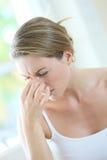 Portrait of a woman having a headache Royalty Free Stock Photos