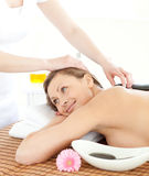 Portrait of a woman having a massage Royalty Free Stock Photos
