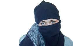 Portrait of a woman with a headscarf Royalty Free Stock Photos