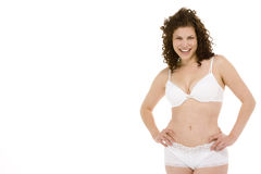 Portrait Of Woman In Her Underwear Royalty Free Stock Photo