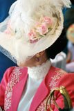 Portrait of a woman in historical costume. Royalty Free Stock Image