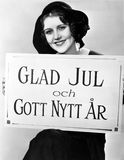 Portrait of woman holding sign in Hungarian Stock Photos