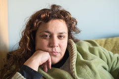 Portrait of a woman at home Stock Image