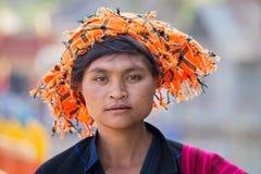 Portrait woman. Inle lake, Myanmar Stock Photos