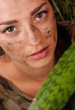 Portrait of a woman in the jungle Stock Photography