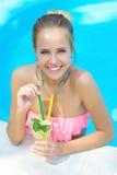 Portrait of a woman with lemonade Stock Photos