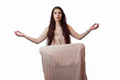 Portrait of woman levitating Royalty Free Stock Photos
