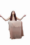 Portrait of woman levitating with eyes closed Royalty Free Stock Images