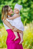 Portrait woman little girl Stock Image