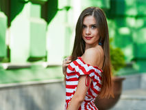 Portrait of woman with long hair Royalty Free Stock Photos