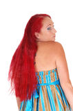 Portrait of woman with long red hair. Royalty Free Stock Photos