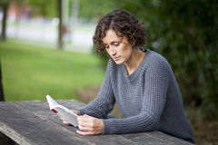 Portrait Of A Woman Lost In Thought royalty free stock photos