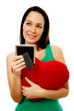 Portrait of woman in love Stock Image