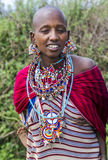 Portrait of a woman of the Maasai Mara tribe Stock Image