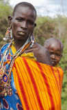 Portrait of a woman of the Maasai Mara tribe Stock Photography