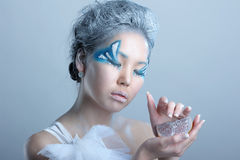 Portrait of woman with makeup Royalty Free Stock Image