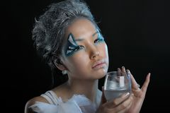 Portrait of woman with makeup Stock Photo
