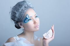 Portrait of woman with makeup Royalty Free Stock Photography