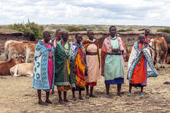 Portrait of woman Masai Mara Stock Images