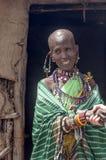 Portrait of woman Masai Mara Stock Image