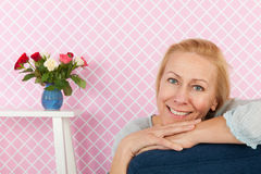 Portrait woman mature age Royalty Free Stock Images