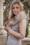 Portrait of a woman in mink fur coat Royalty Free Stock Photo