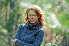 Portrait of woman in nature Royalty Free Stock Photos