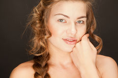 Portrait of woman with nude makeup Stock Photos