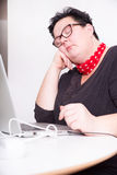 Portrait of woman in office environment Royalty Free Stock Photography
