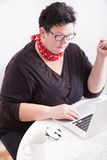 Portrait of woman in office environment stock photos
