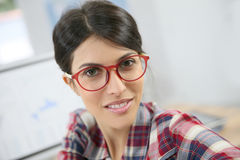 Portrait of woman office worker Stock Image