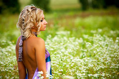 Portrait of a woman outdoors Stock Images