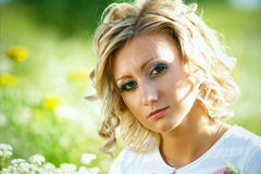 Portrait of a woman outdoors Stock Photography