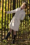 Portrait woman in park Stock Photos