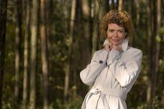 Portrait woman in park close up Stock Photos
