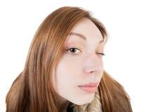 Portrait of a woman peep. Stock Images