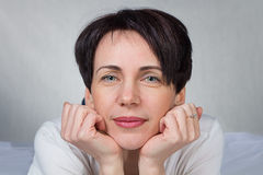 Portrait of woman stock images