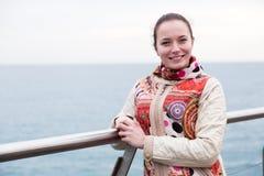 Portrait a woman on pier Stock Images