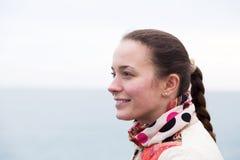 Portrait a woman on pier Stock Photos