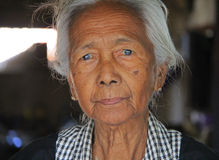 Portrait. A woman posing for her portrait in Myanmar Feb 2015 No model release Editorial use only Stock Photography