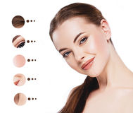Portrait woman with problem and clear skin, youth  make up concept Royalty Free Stock Photo