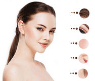Portrait woman with problem and clear skin, youth  make up concept Royalty Free Stock Photography