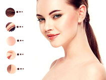 Portrait woman with problem and clear skin, youth  make up concept Stock Photography
