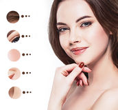 Portrait woman with problem and clear skin, youth  make up concept Stock Images