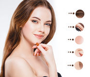Portrait woman with problem and clear skin, youth  make up concept Royalty Free Stock Image