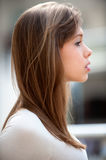 Portrait of woman in profile Stock Image