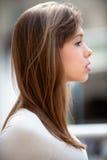 Portrait of woman in profile Stock Image