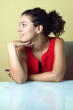 Portrait of a woman in profile Stock Photography