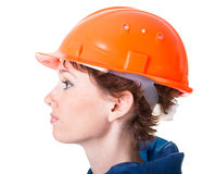 Profile of a young worker Stock Image